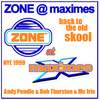 Andy Pendle & Rob Thurston with Mc Irie @ Zone & Back To The Oldskool @ Maximes, Wigan 31-12-1999
