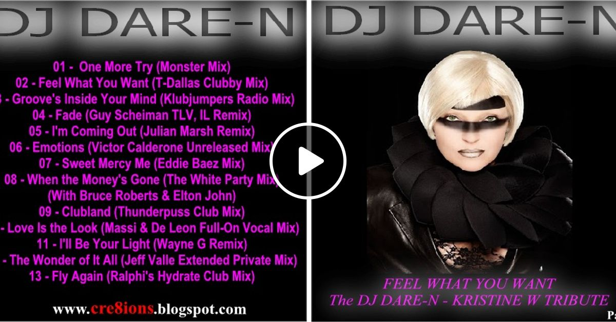 Feel What You Want the DJ Dare-N Kristine W Tribute Part 1 by Dare-N