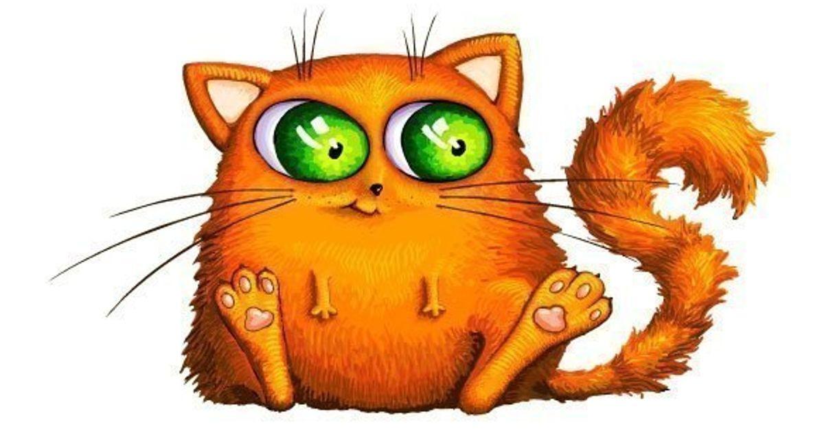 Рисунки рыжих котов смешные, марта