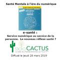 """Santé Mentale à l'ère du Numérique #9 : """"e-santé : Service numérique au service de la personne"""""""