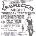 Inner Sphere (Sabrettes) live at Herbal Tea Party at The New Ardri in Manchester on 23 March 1995