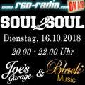 "Joe´s Garage vom 16.10.2018: ""Soul2Soul"" - The finest in Black Music"