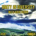Kristofer - Unity in Diversity 647 @ Radio DEEA (03-07-2021)
