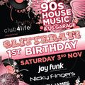 Glitterati 1st Birthday 90's US Garage & House taster mix by Jay Funk