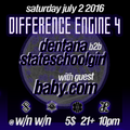 PROMO MIX Dentana B2B Stateschoolgirl [ dj set rec live 9/1/15 @KFN] #extradark #differenceengine