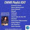 Playlist #247 Sponsored by Graeme Drum