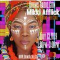 Mikki Afflick on Drums Radio July 13, 2019
