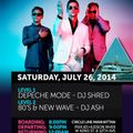 Depeche Mode Boat Cruise Party Summer 2014 mix