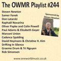 Playlist #244 Sponsored by Steven Newton