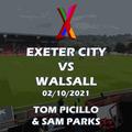 Exeter City vs Walsall - 02/10/2021 - Tom Picillo & Sam Parks