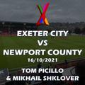 Exeter City vs Newport County - 16/10/2021 - Tom Picillo & Mikhail Shklover