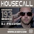 Housecall EP#193 (05/11/20) incl. a guest mix from DJ Passion