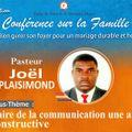 CONF FAMILLE -MAI 2021 -Faire de la communication une arme constructive  - Past Joel PLAISIMOND