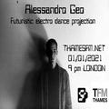 Alessandro Geo's Futuristic Electro Dance Projection on TFM