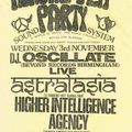 Astralasia Live and Rob Fletcher at Herbal Tea Party on 3 November 1993