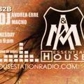 Essential House - 11 october 2017 Andrea Erre & Macho Dj B2B - Live @Housestationradio - Only Vinyl