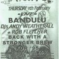 Andrew Weatherall at the Herbal Tea Party at The New Ardri in Manchester on 9 February 1995