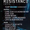 Carl Cox B2B Adam Beyer Live @ Resistance Ibiza Week 9 (Closing Party), Spain 2019-09-17