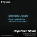 Repetitive Strain - 18-Apr-20