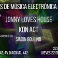 Jonny Loves House Live Set @ Garage 442, Barcelona