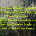 Tim Frazer 'Gone Country' on Swinging Radio England: 22/01/19