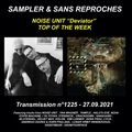 RADIO S&SR Transmission N°1225 – 27.09.2021 (TOP Of The Week NOISE UNIT «Deviator»)