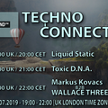 Markus Kovacs b2b Wallace Threeoptic Exclusive radio mix Techno Connection UK Underground FM 26/7/19