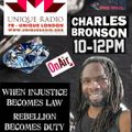 'Jewels Are In The Lyrics' show ft Charles Bronson 22nd October 2021 @uniqueradio @selectorbronson