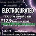 Electrocurated #123 ArtefaktorRadio.com 6-8pm Sat 2Jan21 @artefaktorradio @ColinsCuts