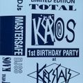 Mastersafe @ Total Kaos '1st Birthday Party' - 10th August 1992 (Side A)