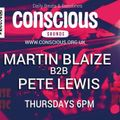 M.Blaize and Pete Lewis live on www.conscious.org.uk