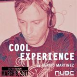 "Sergio Martínez presents ""Cool Experience""- NUBE MUSIC Radio - Dj session - March 8, 2017."