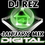 4House Digital January 2012 (DJ Rez Mix)