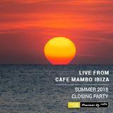 Real Ibiza 2018 - Jason Bye at Cafe Mambo Summer 2018 Closing Party