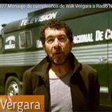 Willi Vergara desde La radio nacional de Colombia en el cumpleaños 77