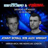 Jonny Royall B2B Alex Wright @ Trance Sanctuary & Friendz Presents Ferry Tayle At Fire 05.08.2017