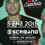 Daniel de Miguel + J.Morrison + Escribano = NOCHE DE REYES @ LA ESPAÑOLA CUANDO BESA...05012015