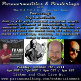 Paranormalities & Ponderings Radio Show featuring Loyd Auerbach! Hosted by Frank Lee