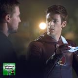 Arrow vs. Flash: Punch. Kick. It's all in the... Whoa! He's fast!