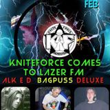 Knite Force comes to Lazer FM 18 February 2017 DJ Bagpuss with Alk-E-D & DJ Deluxe