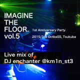 IMAGINE THE FLOOR. vol.5 DJ enchanter with MC暴力 live mix #ITF_DJ