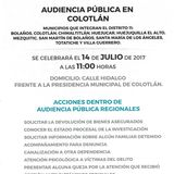 Audiencia Pública en Colotlán
