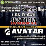 Brigada junto a Los Clash, Jusicia Inmoral y Avatar