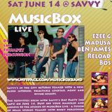 MusicBox Live, DJ Madusa, Maverick on Percussion, Bos on Sax & Andre on Trumpet - Live 2007