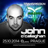 John O´Callaghan  - Transmission 2014 Live Broadcast on AH.FM 25-10-2014