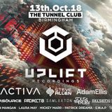 Activa Live @ Uplift @ The Tunnel Club, Birmingham UK 13-10-2018