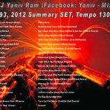 DJ Yaniv Ram - SET93, 2012 Summary SET