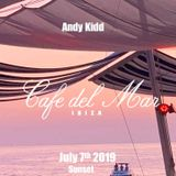 Andy Kidd - live @ Cafe Del Mar Ibiza. July 7th 2019