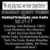 HipHopPhilosophy.com Radio - LIVE - 02-27-17