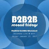 B2B2B Live @ Bevy (1/13/17) Bill Gallo, Globes and Francis Delfino